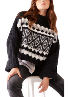 Free People Alpine Crop Mock Neck Sweater