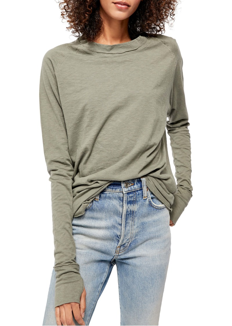 Free People Arden Extra Long Cotton Top