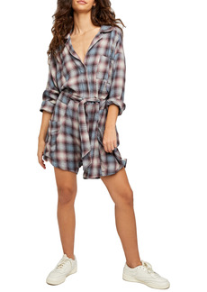 Free People Before I Let Go Plaid Romper