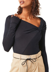 Free People Brianne Asymmetrical Neck Top