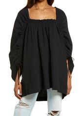 Free People Brynn Jacquard Cotton Tunic Top