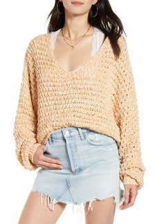 Free People Coconut V-Neck Sweater