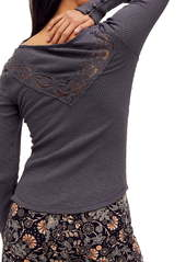 Free People Come On Over Lace Henley Shirt