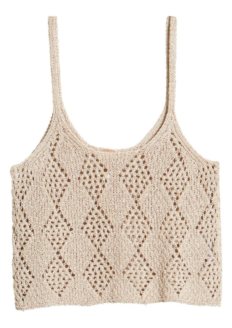Free People Crochet Crop Tank Top