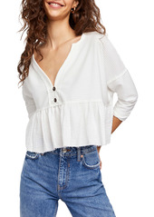 Free People Dallas Crop Henley Top