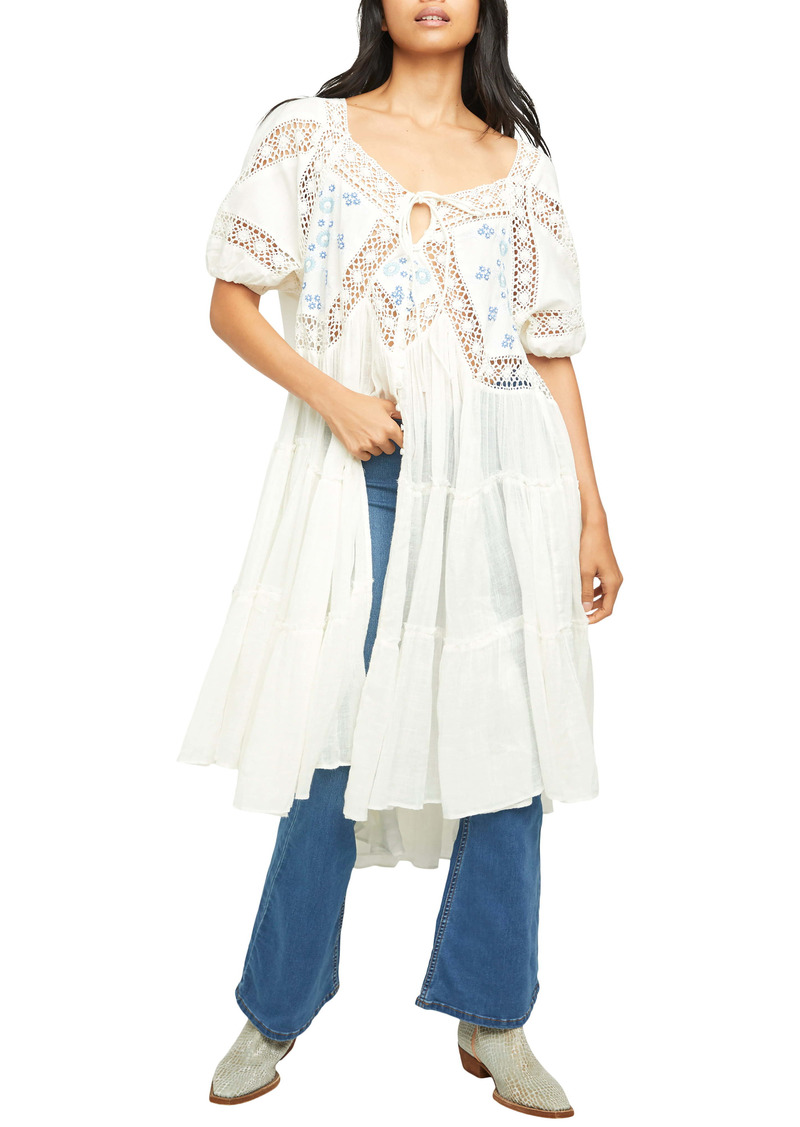 Free People Delilah Embroidered Longline Tunic