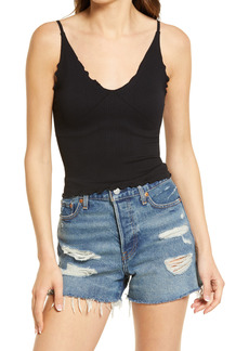 Free People Easy to Love Rib Crop Cami