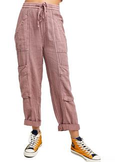 Free People Feelin' Good Linen Blend Utility Pants