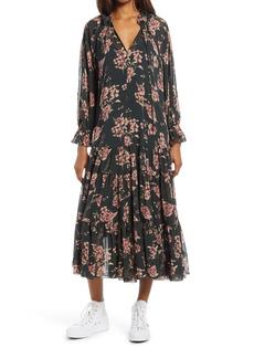 Free People Feeling Groovy Long Sleeve Midi Dress
