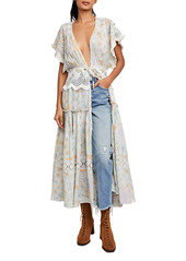 Free People Floral Wrap