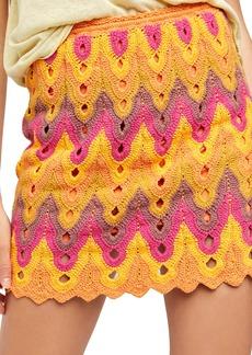 Free People Heat of the Moment Crochet Miniskirt