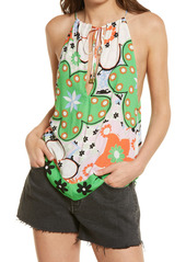 Free People I Dare You Floral Mixed Print Tank