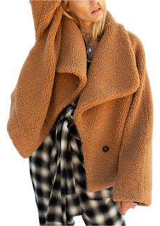 Free People Izzy Wrap Teddy Coat