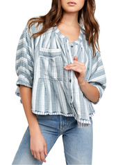 Free People Lisbon Stripe Button-Up Shirt