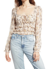 Free People Lolita Floral Print Top
