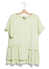 Free People Marni Asymmetrical Ruffle Tunic