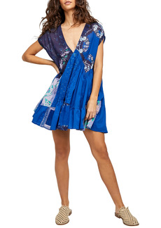 Free People Mended with Scarves Minidress