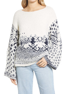 Free People Midnight Beach Rib Off-the-Shoulder Sweater