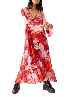 Free People Moroccan Roll Floral Long Sleeve Maxi Dress