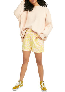 Free People Palo Duro Floral Pull-On Shorts