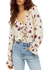 Free People Poppy Ruffle Bodysuit