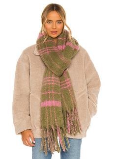Free People Prep Brushed Plaid Blanket Scarf