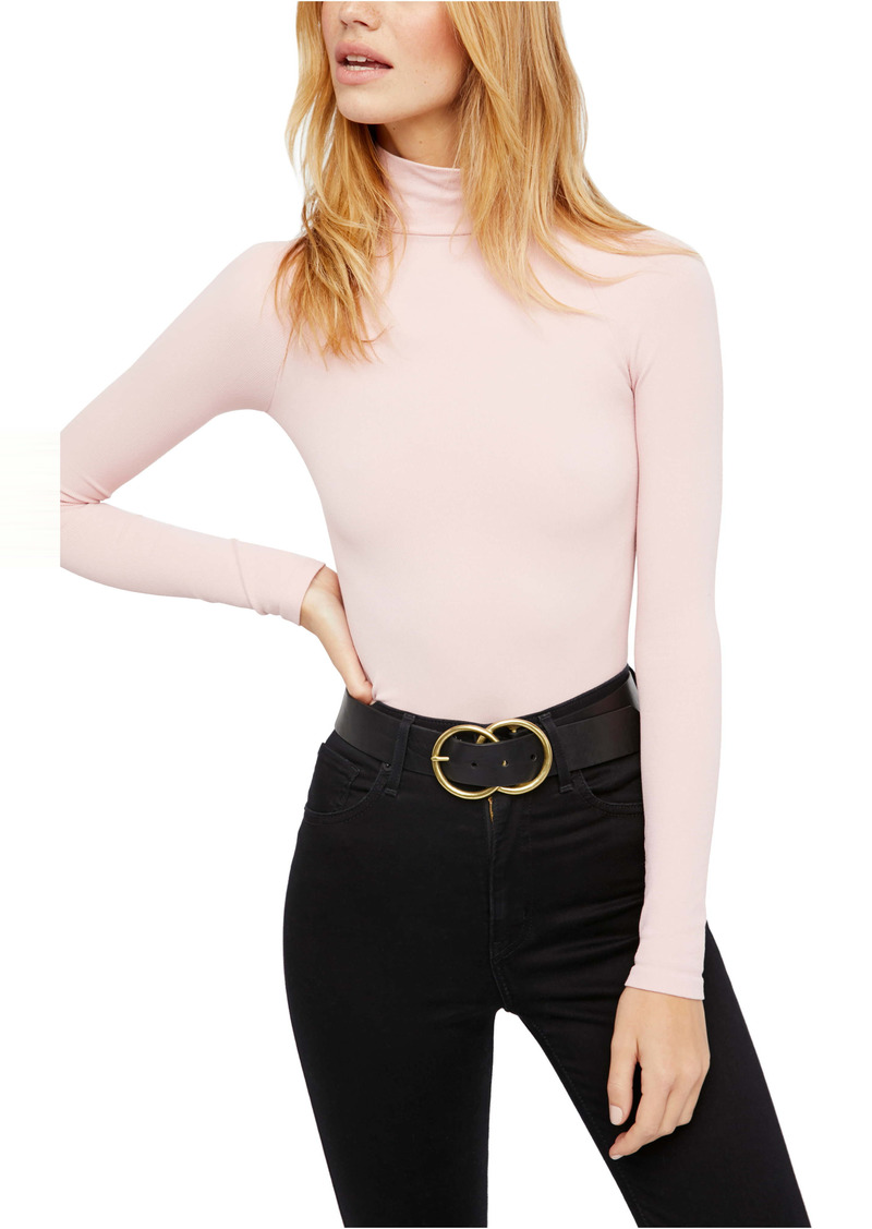Free People Ribbed Turtleneck Bodysuit