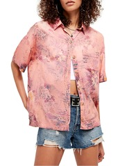 Free People Share Good Vibes Print Shirt