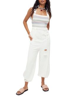 Free People Sienna Smocked Sleeveless Jumpsuit