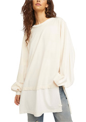 Free People Stripe Oversize Shirt
