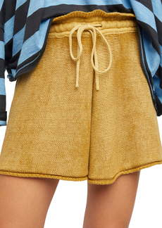 Free People Summertime Blues Knit Shorts