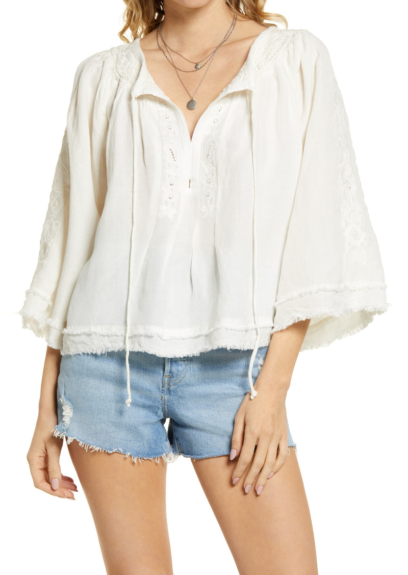 Free People Sun Valley Embroidered Top