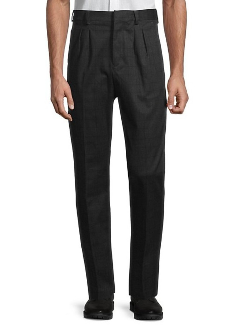 French Connection Check Pleated Pants