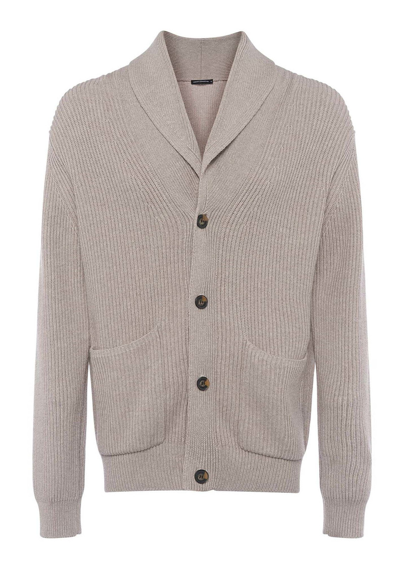 French Connection Cotton Blend Shawl Collar Cardigan
