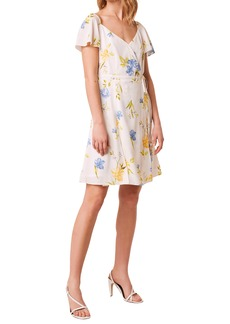 French Connection Eme Crepe Faux Wrap Dress