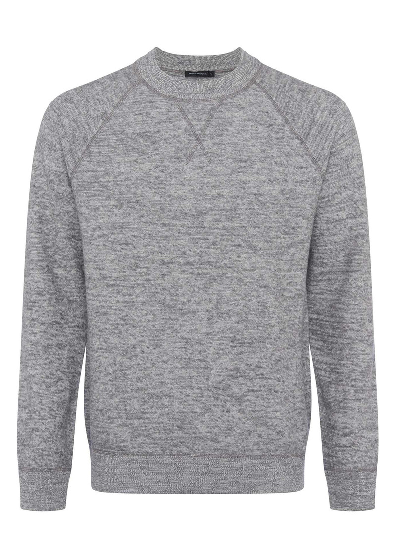 French Connection Men's Luxe Wool & Cotton Crewneck Sweatshirt