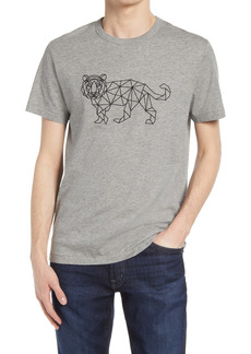 French Connection Men's Tiger Grid Graphic Tee
