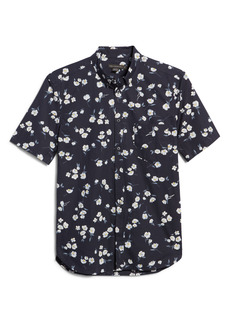 French Connection Patterned Short Sleeve Button-Down Shirt