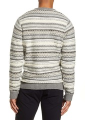 French Connection Regular Fit Graphic Stripe Sweater