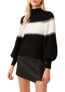 French Connection Sophia Colorblock Blouson Sleeve Sweater