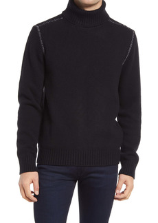 French Connection Stitch Detail Slim Fit Turtleneck