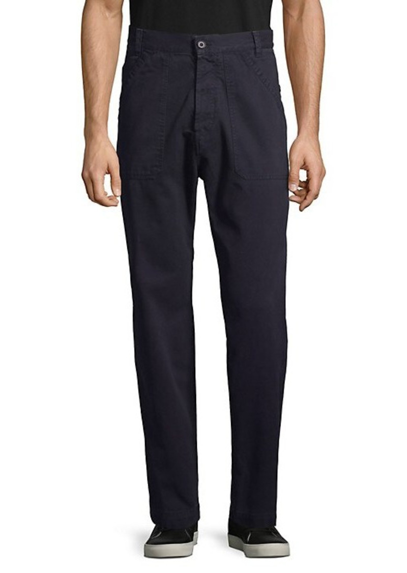 French Connection Straight-Fit Cotton Pants