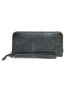 Frye Charlie Camo Print Leather Wallet