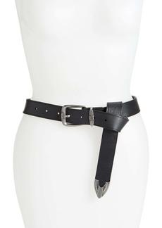 Frye Flat Panel Leather Belt