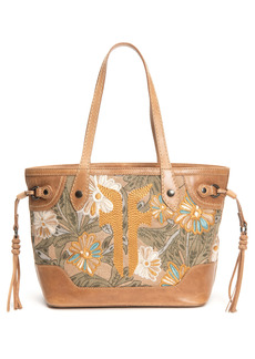 Frye Melissa Embroidery Floral Carryall Tote
