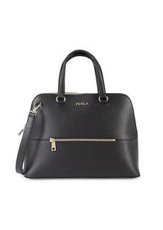 Furla Medium Alex Dome Leather Top Handle Bag