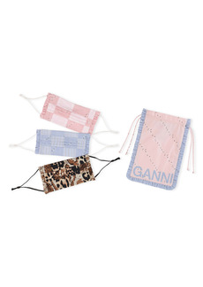 Ganni 3-Pack Organic Cotton Adult Face Masks (Nordstrom Exclusive)