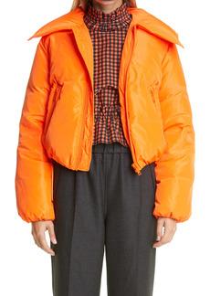 Ganni Crop Tech Down Puffer Jacket