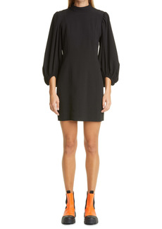 Ganni Fitted Heavy Crepe Dress