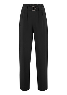 Ganni High-waist Crêpe Trousers